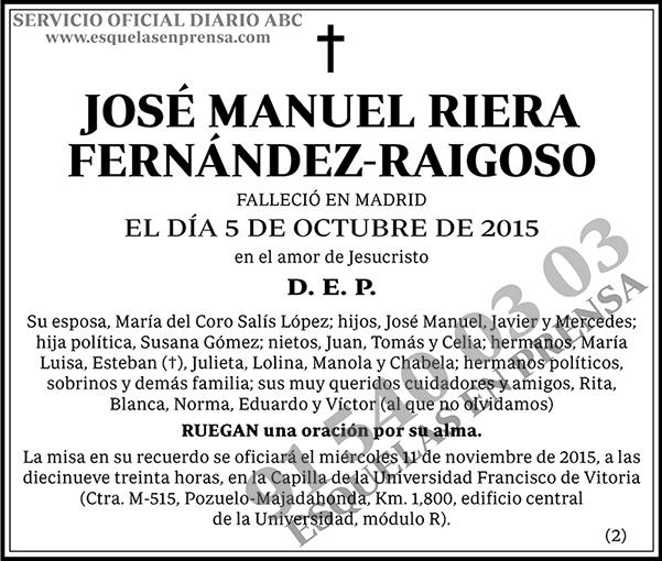 José Manuel Riera Fernández-Raigoso